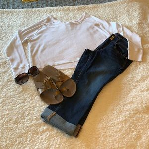 TNA thermal cropped shirt  & American eagle crops
